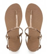 Havaianas Flipflops You Riviera Croco rose gold colored (3581)